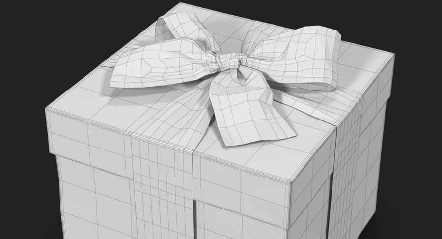 Geschenkbox Rot royalty-free 3d model - Preview no. 28