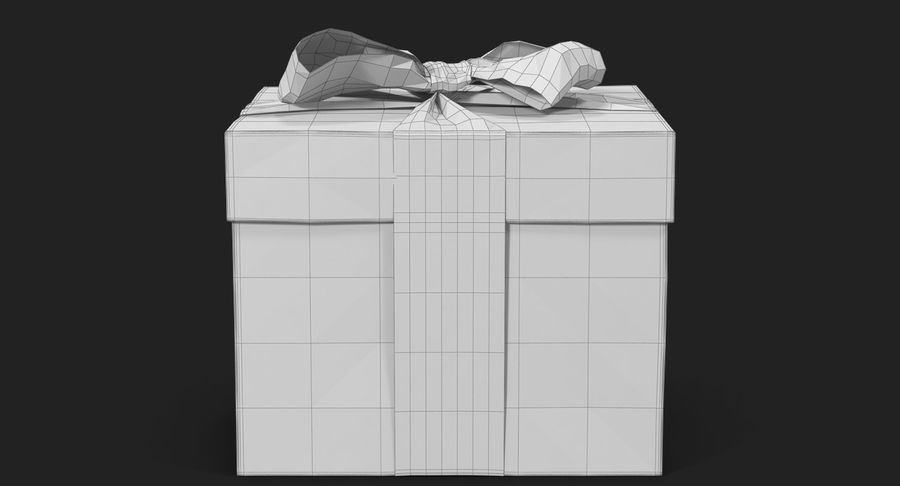 Geschenkbox Rot royalty-free 3d model - Preview no. 40