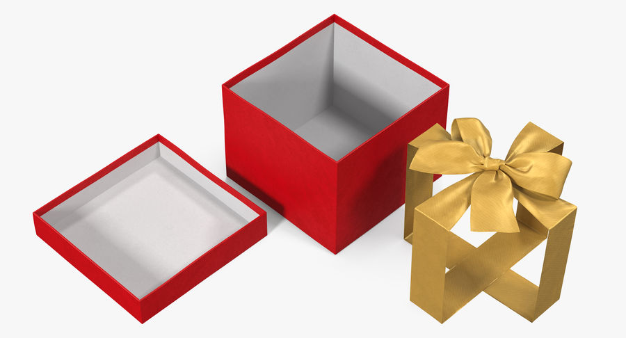 Geschenkbox Rot royalty-free 3d model - Preview no. 11