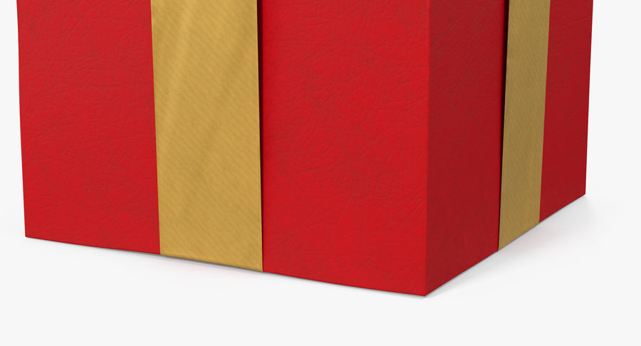 Geschenkbox Rot royalty-free 3d model - Preview no. 10
