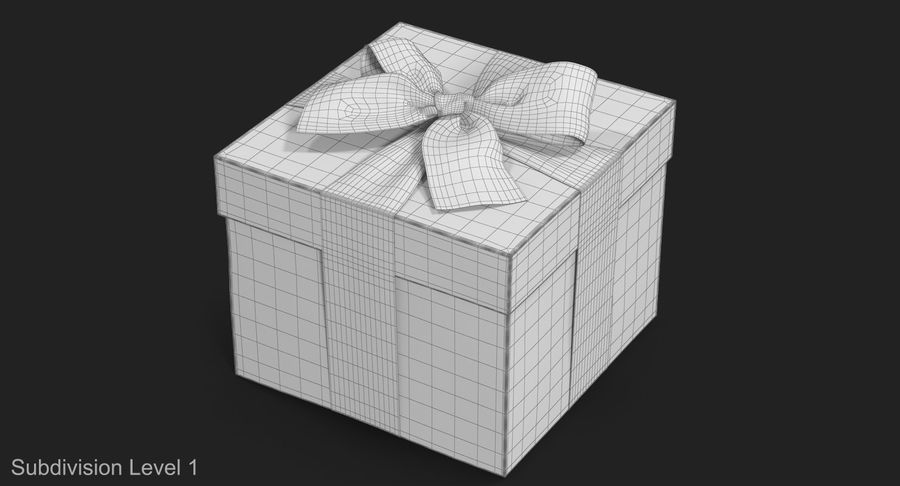 Geschenkbox Rot royalty-free 3d model - Preview no. 21