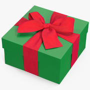 선물 상자 녹색 2 3d model
