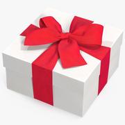 Geschenkbox Weiß 2 3d model