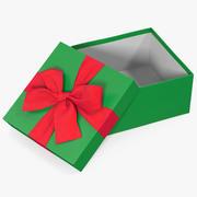 선물 상자 오픈 그린 2 3d model