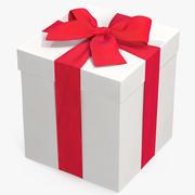 Geschenkbox Weiß 3 3d model