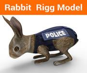 sfingowany królik policyjny 3d model