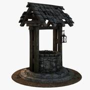 Stara średniowieczna studnia wodna 3d model