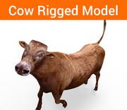 Kuh manipuliert 3d model