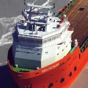 コンテナ船 3d model
