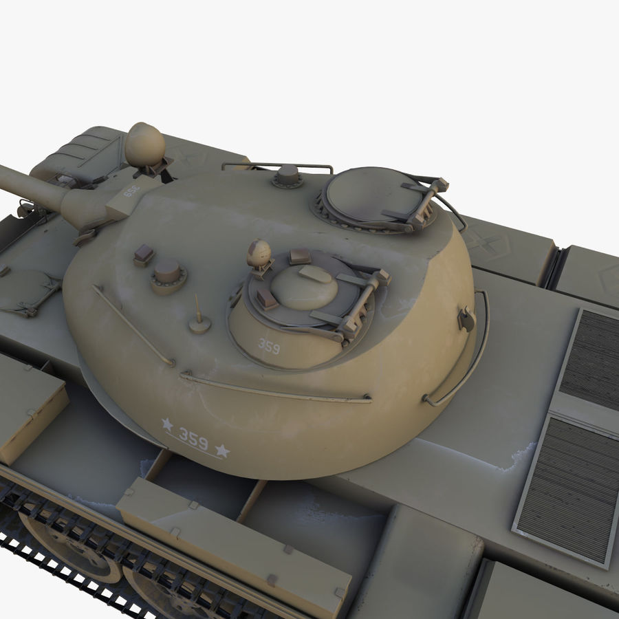 T55 Tank royalty-free 3d model - Preview no. 8