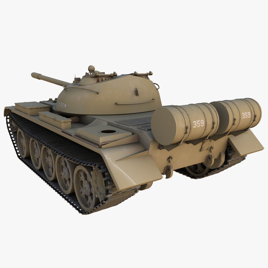 T55 Tank royalty-free 3d model - Preview no. 15