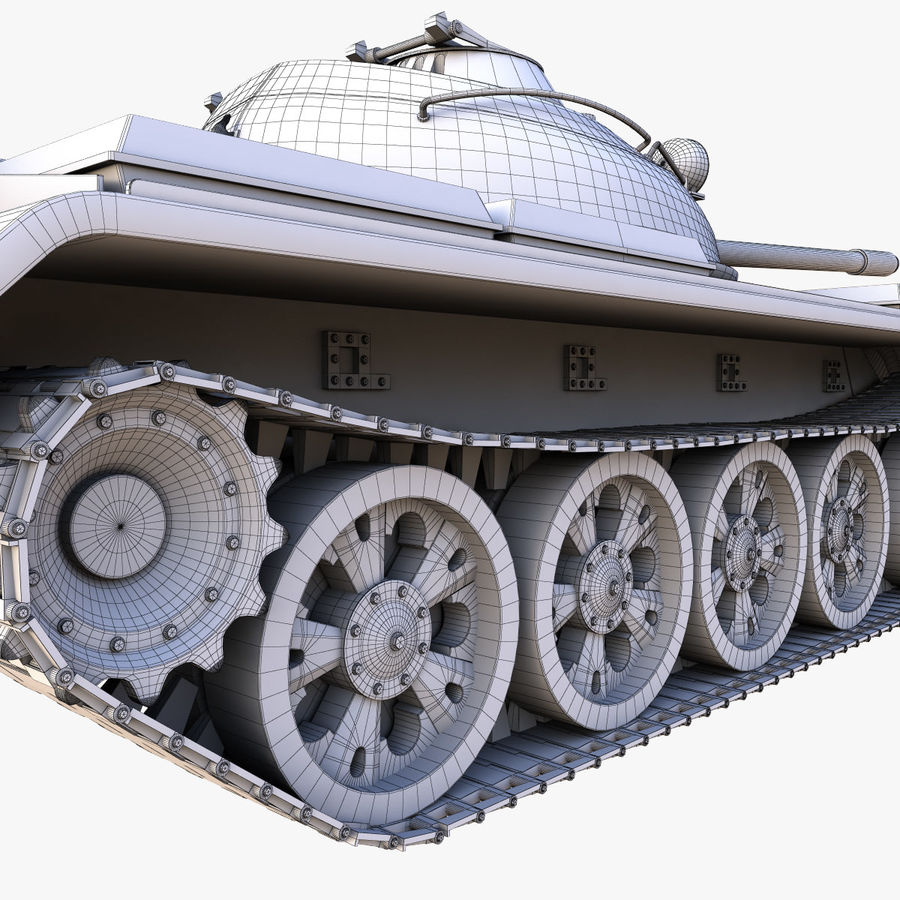 T55 Tank royalty-free 3d model - Preview no. 22