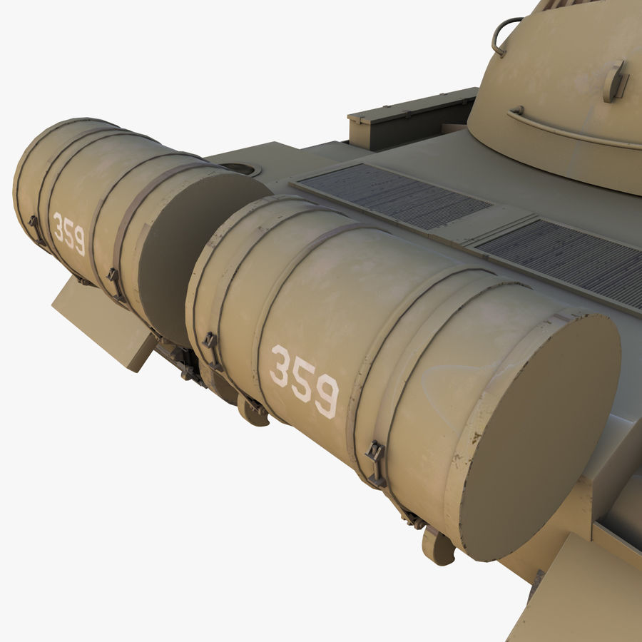 T55 Tank royalty-free 3d model - Preview no. 17