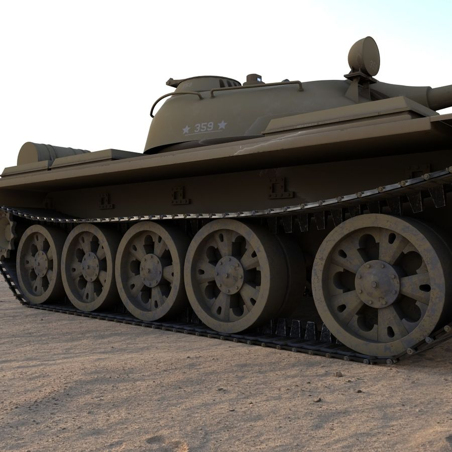 T55 Tank royalty-free 3d model - Preview no. 5