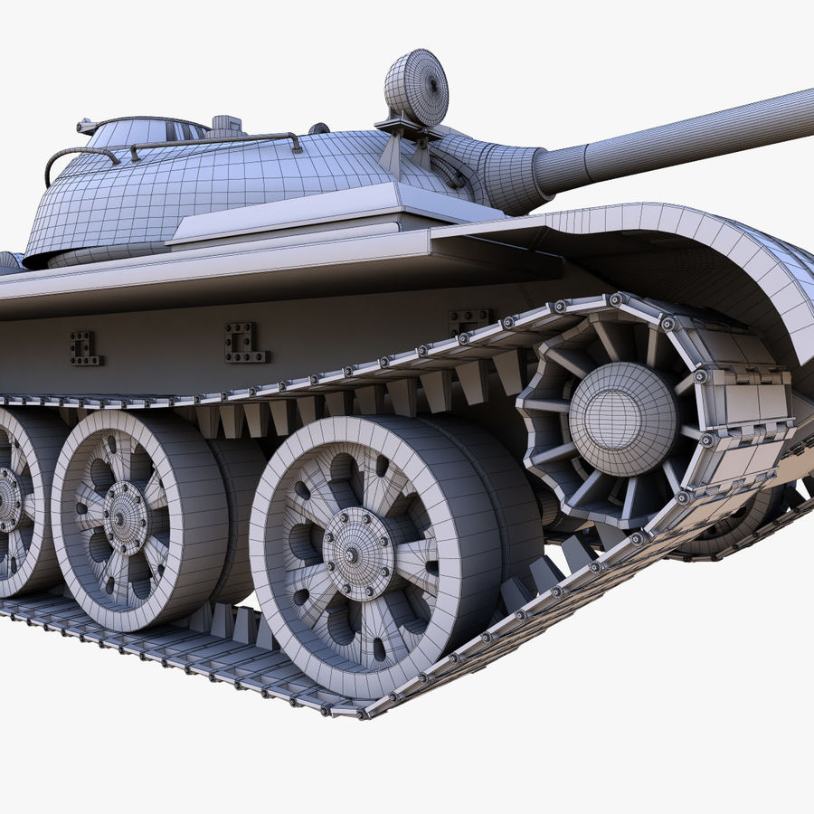 T55 Tank royalty-free 3d model - Preview no. 23