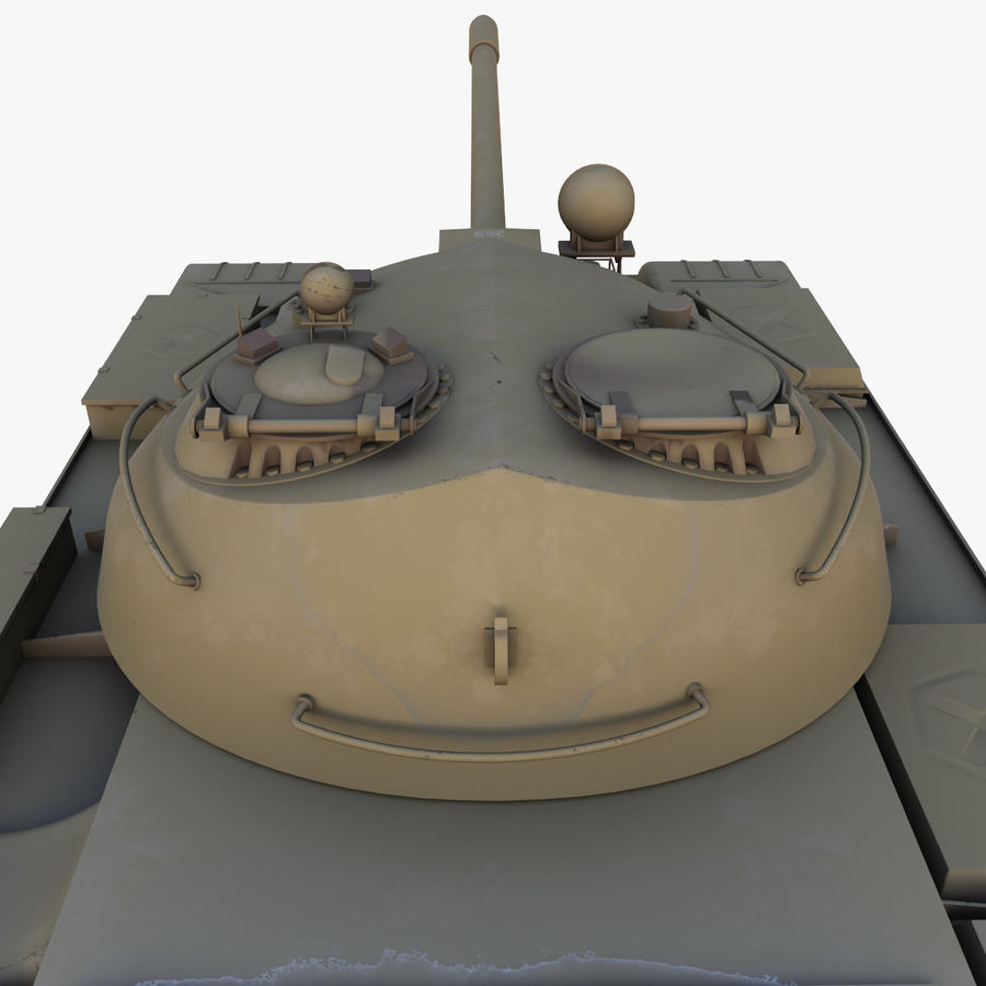 T55 Tank royalty-free 3d model - Preview no. 9