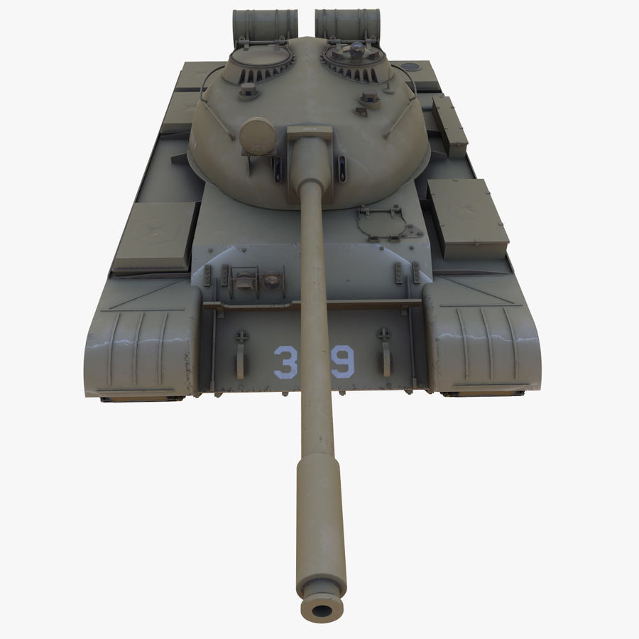 T55 Tank royalty-free 3d model - Preview no. 13