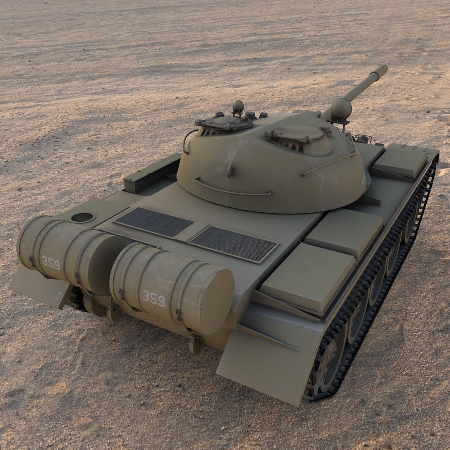 T55 Tank royalty-free 3d model - Preview no. 4