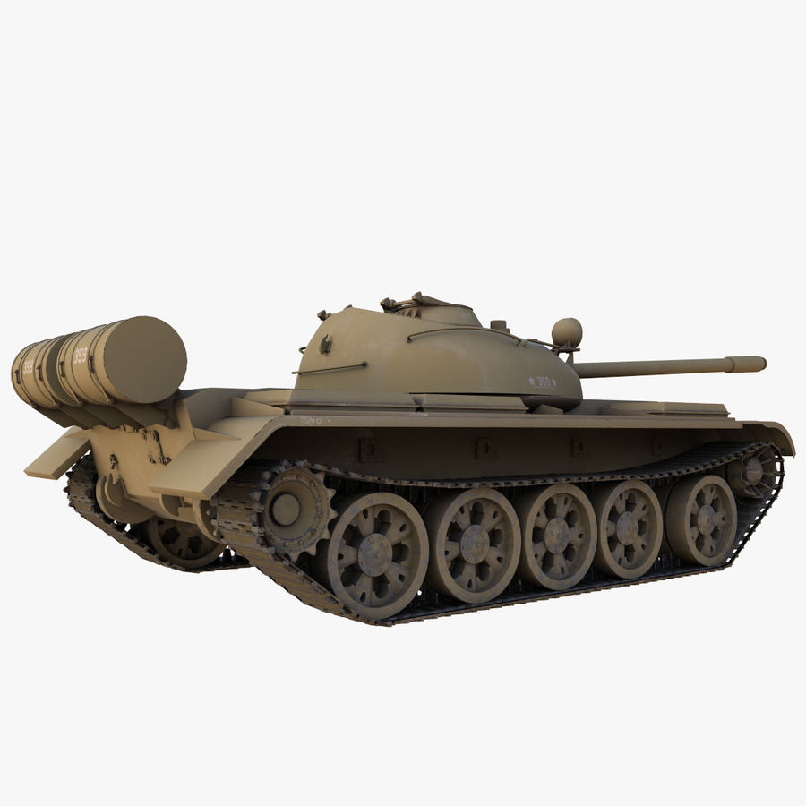 T55 Tank royalty-free 3d model - Preview no. 11