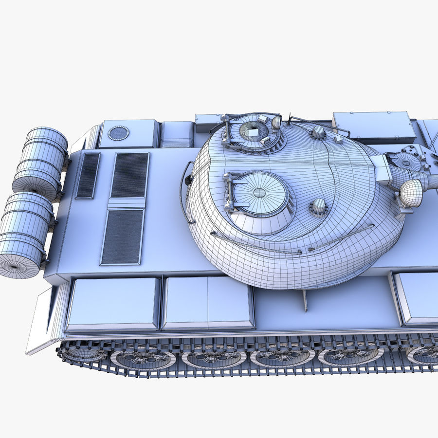 T55 Tank royalty-free 3d model - Preview no. 18