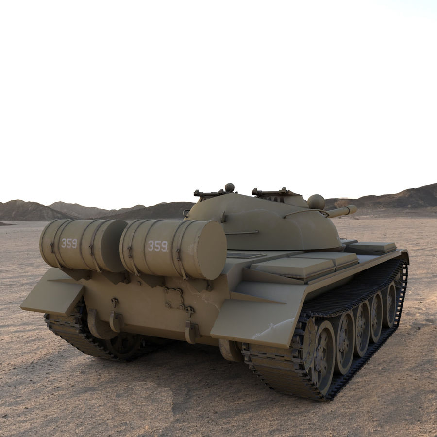 T55 Tank royalty-free 3d model - Preview no. 3