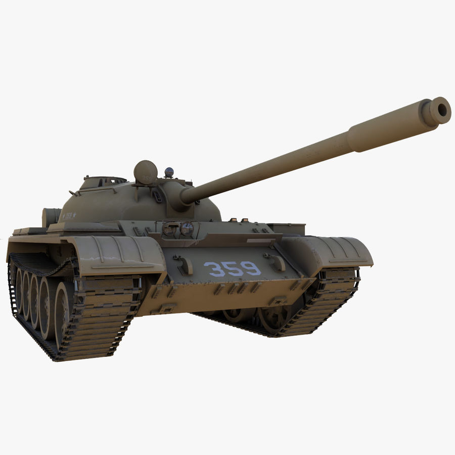 T55 Tank royalty-free 3d model - Preview no. 6