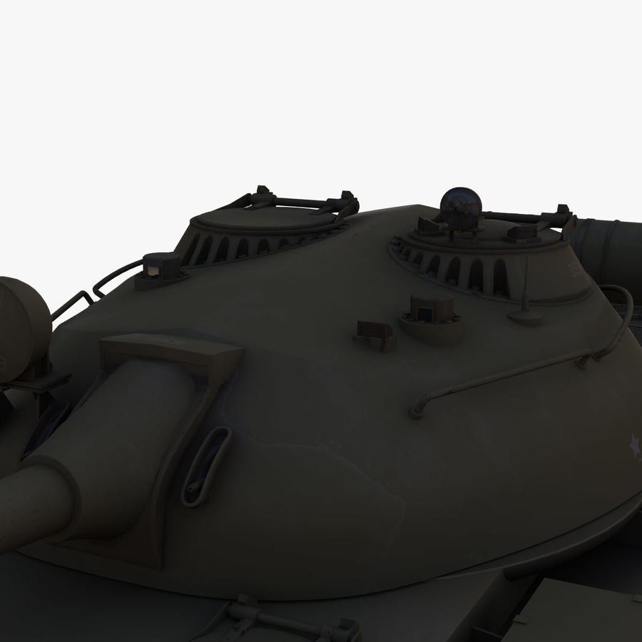 T55 Tank royalty-free 3d model - Preview no. 7