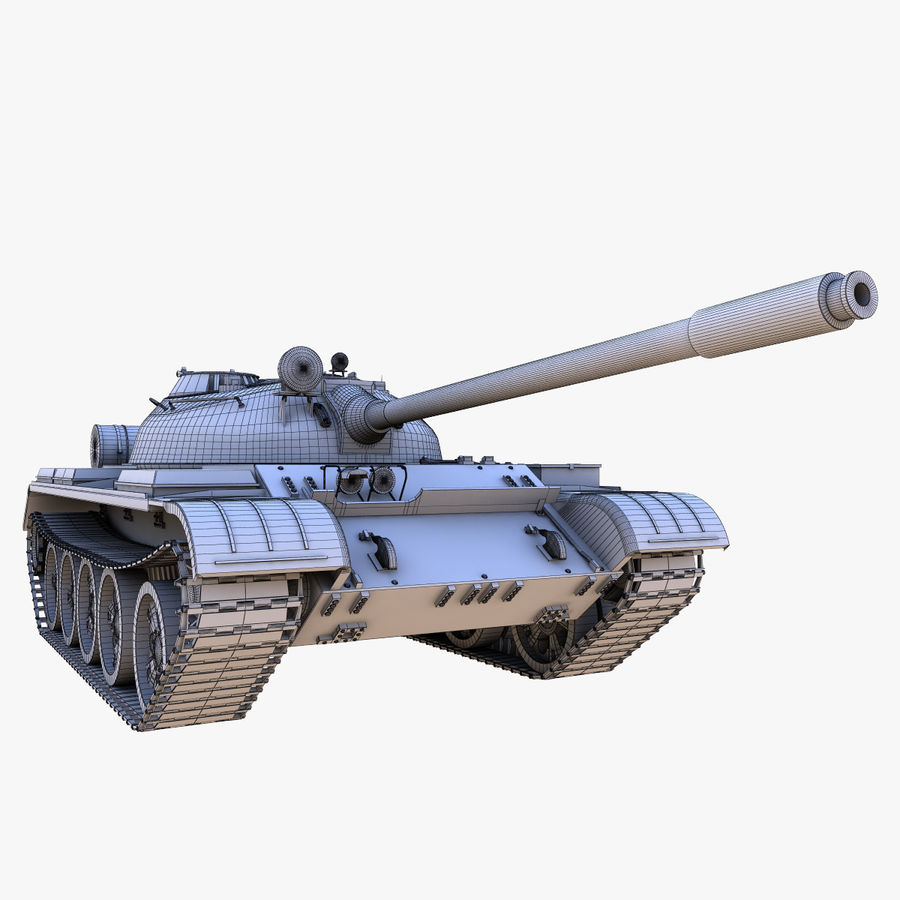 T55 Tank royalty-free 3d model - Preview no. 19