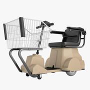Electric Shopping Cart 03 3d model