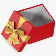 선물 상자 오픈 레드 3d model