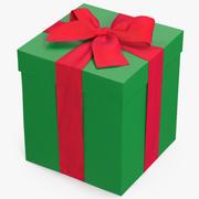 선물 상자 녹색 3 3d model