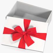 선물 상자 오픈 화이트 4 3d model
