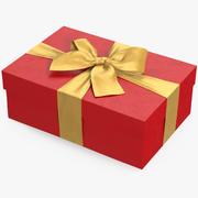 Geschenkbox Rot 4 3d model