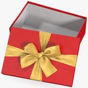 선물 상자 오픈 레드 4 3d model