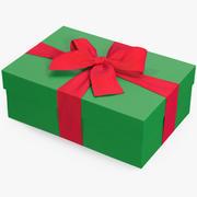 선물 상자 녹색 4 3d model