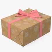 선물 상자 용지 6 3d model