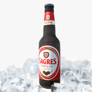 Bottiglia Di Birra Congelata 3d model