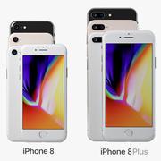 Iphone 8 PlusおよびIphone 8 3d model