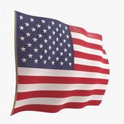 Amerikanska flaggan 3d model