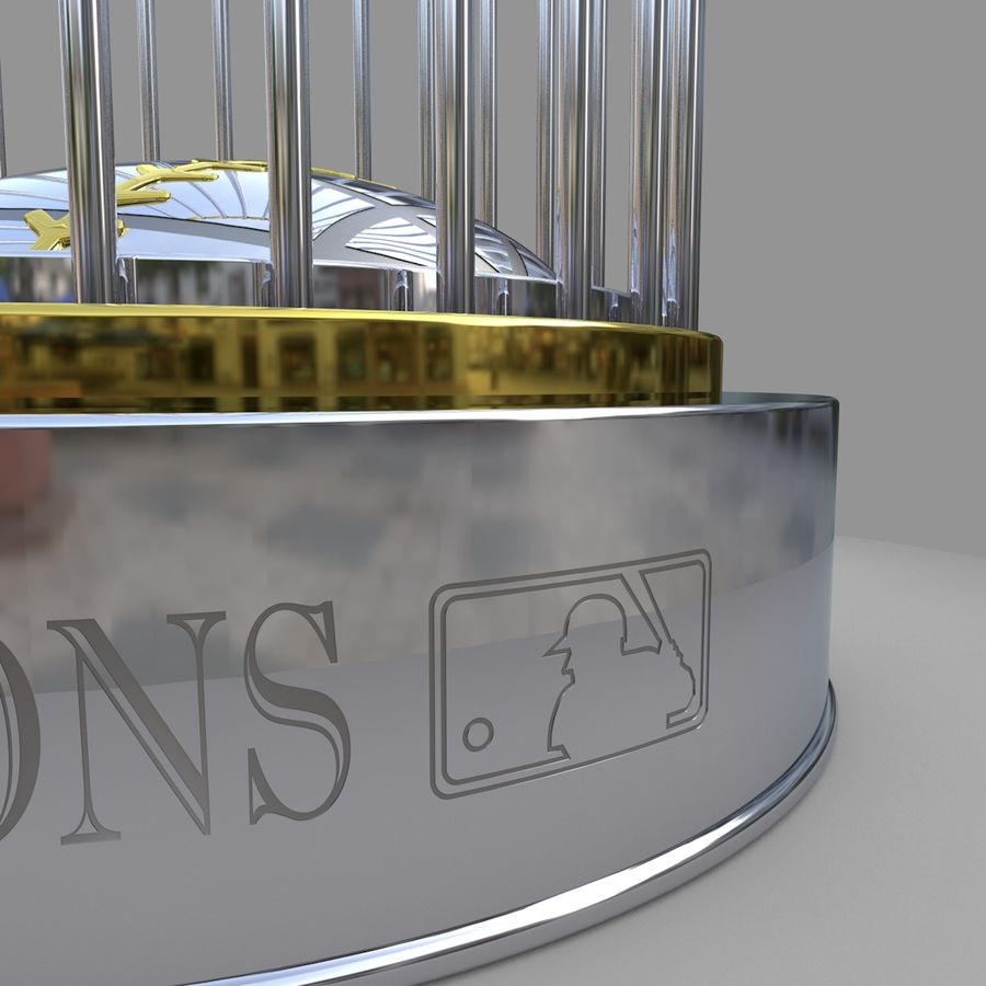 Baseball World Series Champion Trophy royalty-free 3d model - Preview no. 5