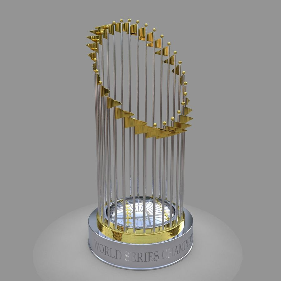 Baseball World Series Champion Trophy royalty-free 3d model - Preview no. 1