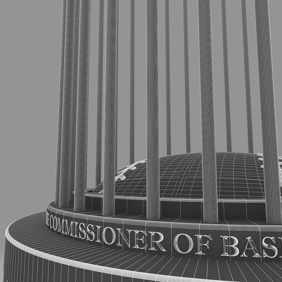 Baseball World Series Champion Trophy royalty-free 3d model - Preview no. 9