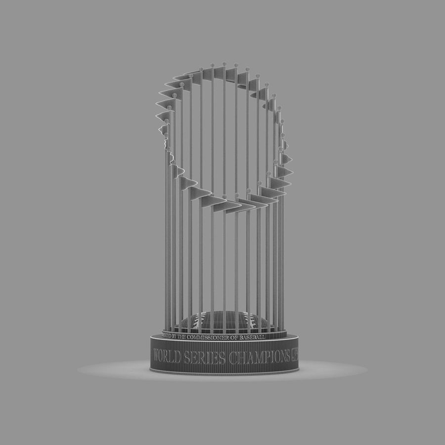 Baseball World Series Champion Trophy royalty-free 3d model - Preview no. 10