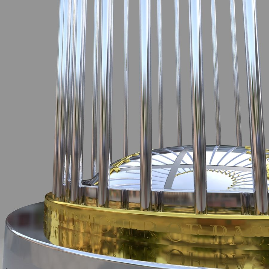 Baseball World Series Champion Trophy royalty-free 3d model - Preview no. 8