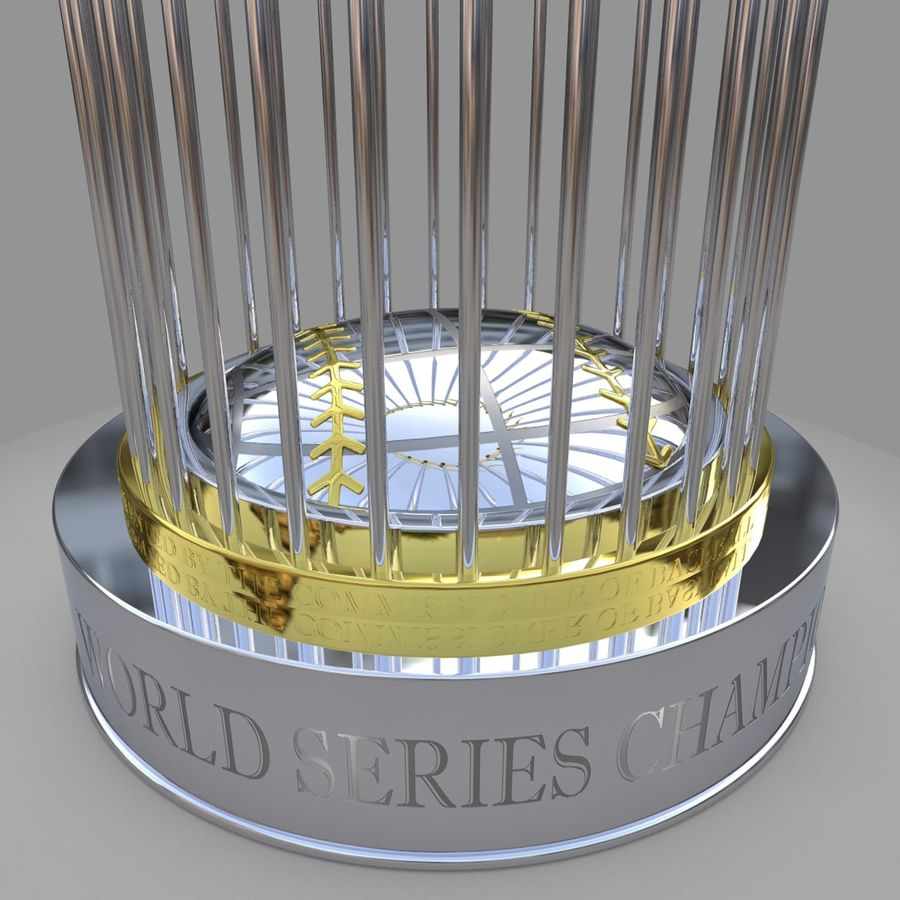 Baseball World Series Champion Trophy royalty-free 3d model - Preview no. 4