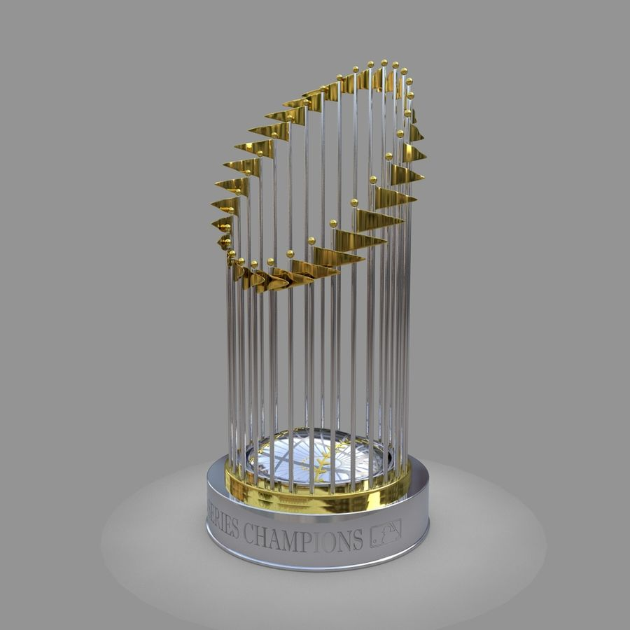 Baseball World Series Champion Trophy royalty-free 3d model - Preview no. 2