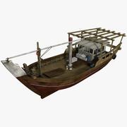 釣りのダウ 3d model