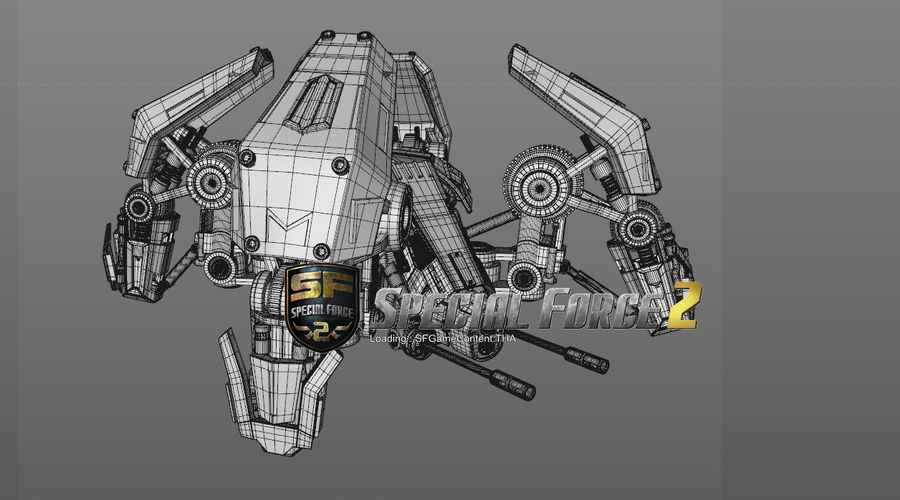Spider robot royalty-free 3d model - Preview no. 8