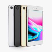 Apple iPhone 8 All Colors 3d model