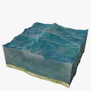 Gesneden Stuk Van Oceaan 3d model